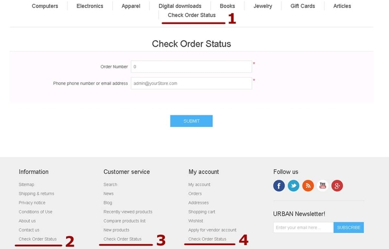 Picture of Check Order Status