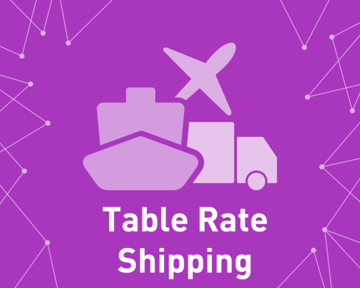 Picture of Table Rate Shipping