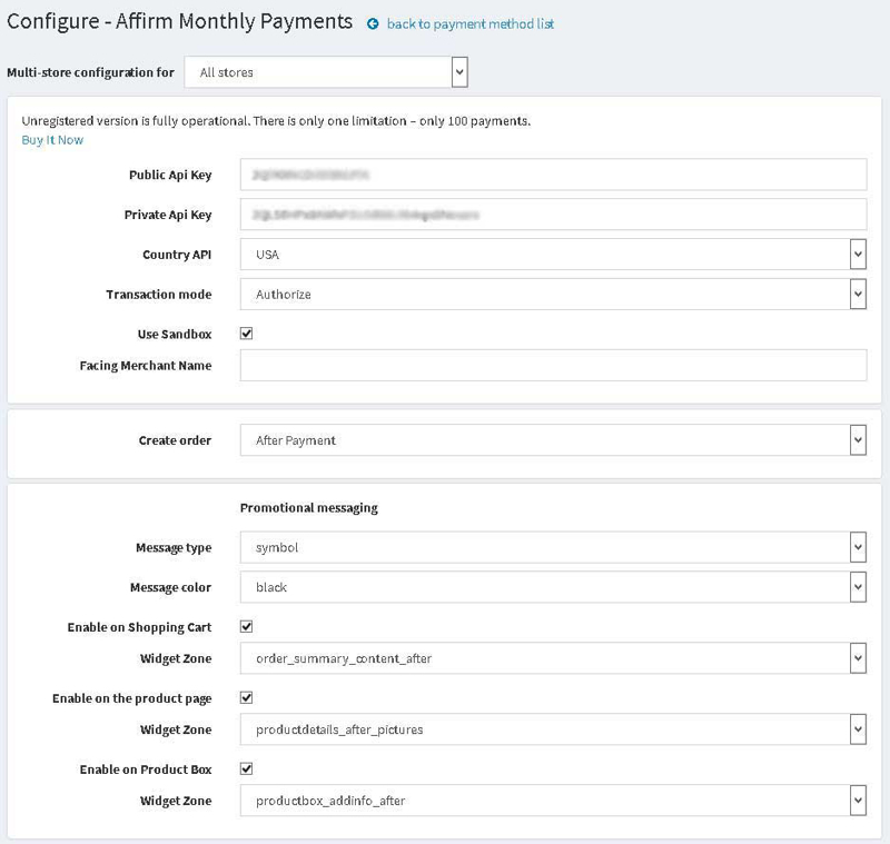 Picture of Affirm Payment