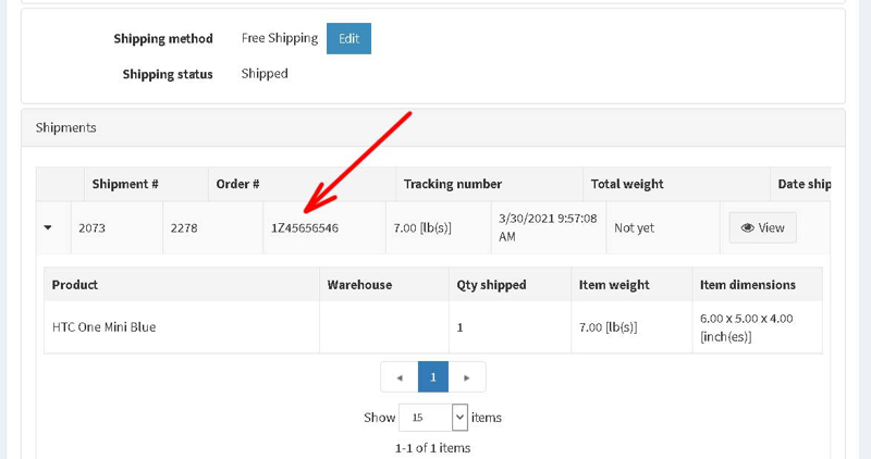 Picture of Import Tracking Numbers